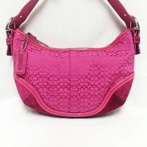 Coach Hot Pink Mini Hobo Bag